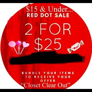 All items under 15$ bundle two for 25$